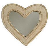 Papa Theo Small Heart Mirror - Natural Limed