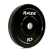 Raze 10kg Black Series Solid Rubber Olympic Plate (x1)