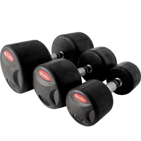 Bodymax Pro Rubber II Dumbbells - 2 x 7.5kg