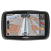 "TomTom GO 5000 EU Sat Nav, 5"" LCD Touch Screen with European Lifetime Maps & Free Lifetime Traffic Updates"