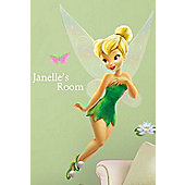Tinkerbell Giant Wall Stickers + Personalisation