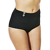 Curvy Kate Luau Love High Waisted Bikini Briefs - Black