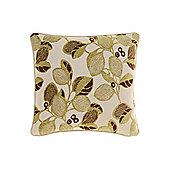 Linea Leaf Design Chenille Cushion - Green