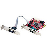 StarTech.com 2 Port Low Profile Native PCI Express Serial Card w/ 16950 - Serial adapter - PCI Express low profile - RS-232 - 2 ports