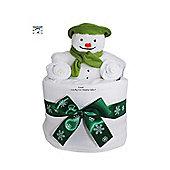 Mini Christmas Snowman Nappy Cake Baby Gift