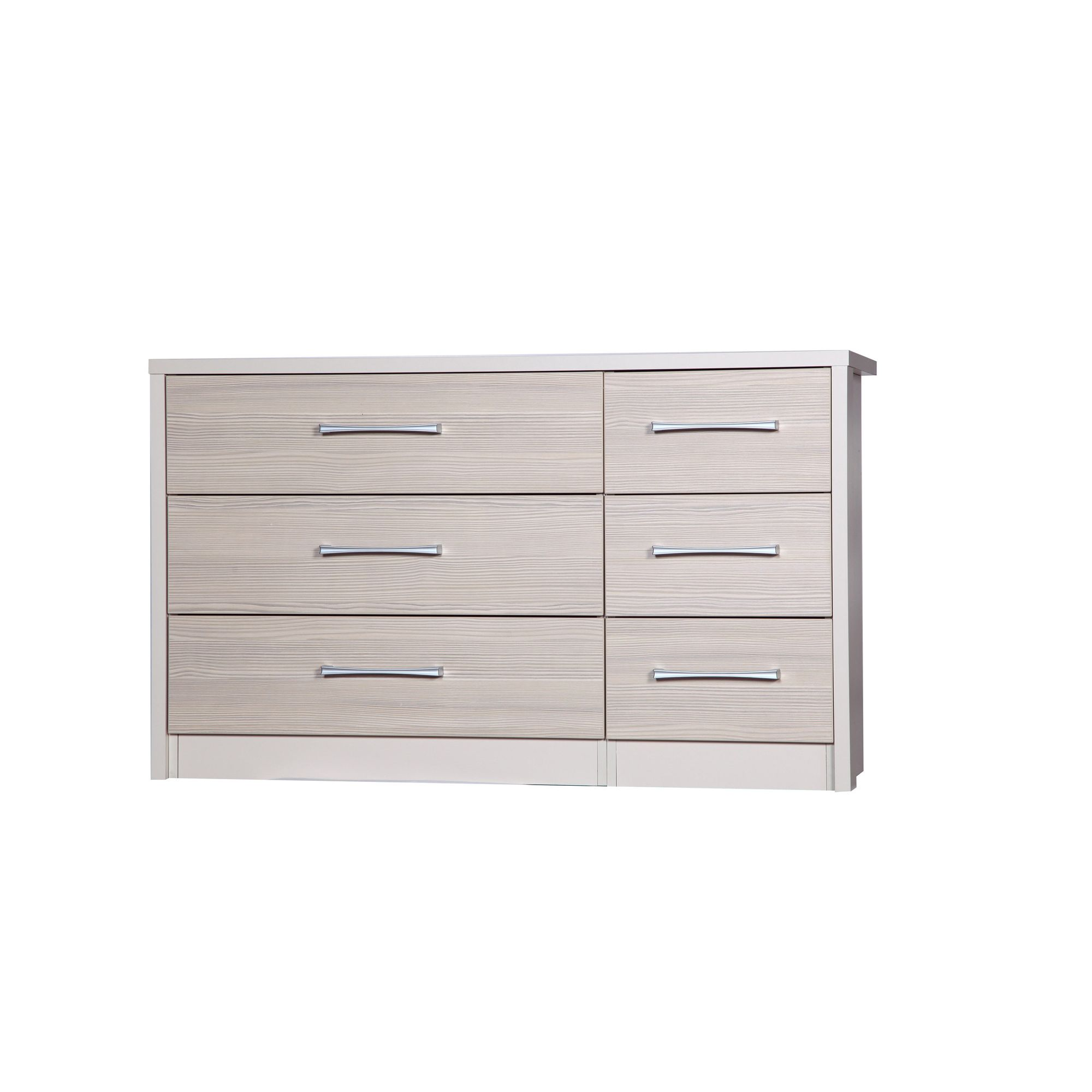 Alto Furniture Avola 6 Drawer Double Chest - Cream Carcass With Champagne Avola at Tesco Direct