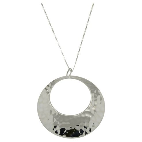 Sterling Silver Hammered Cut Out Pendant