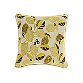 Linea Leaf Design Chenille Cushion, Lime