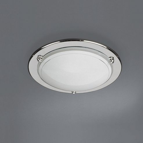 Massive Fergie 8cm One Light Flush Ceiling Light in Chrome