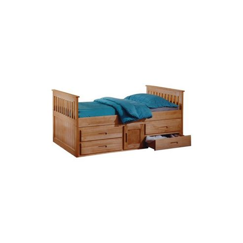 Amani Captain Single Slat Bed with Storage - 5 Drawers
