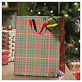 Tartan Christmas Gift Bag, Large