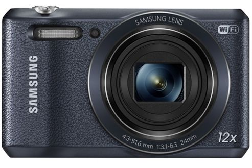 Samsung WB35F Smart Digital Camera, Black, 16.2MP, 12x Optical Zoom, 2.7