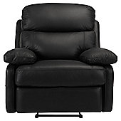 Cordova Leather Recliner Chair Black