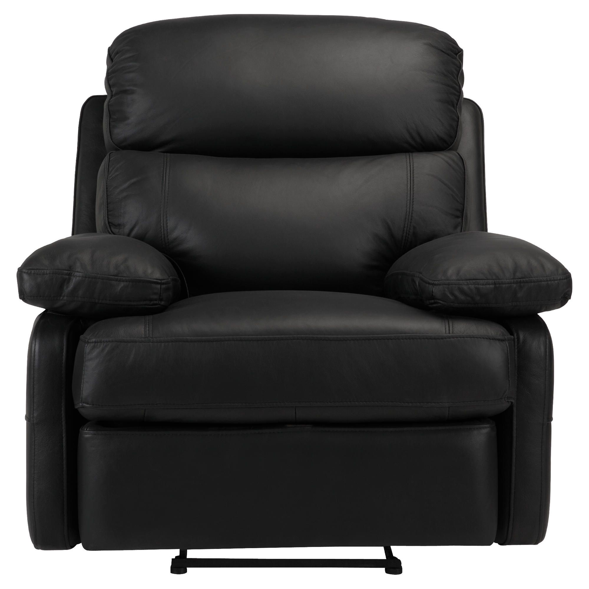 Cordova Leather Recliner Chair Black at Tesco Direct