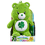 Care Bears Medium Soft Toy with DVD - Good Luck Bear