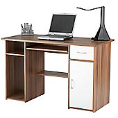 Alphason Walnut and White Workstation