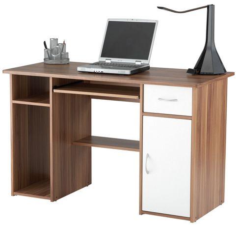 Alphason Walnut and White Workstation