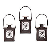 A Small Traditional Metal & Glass Lantern With Handle