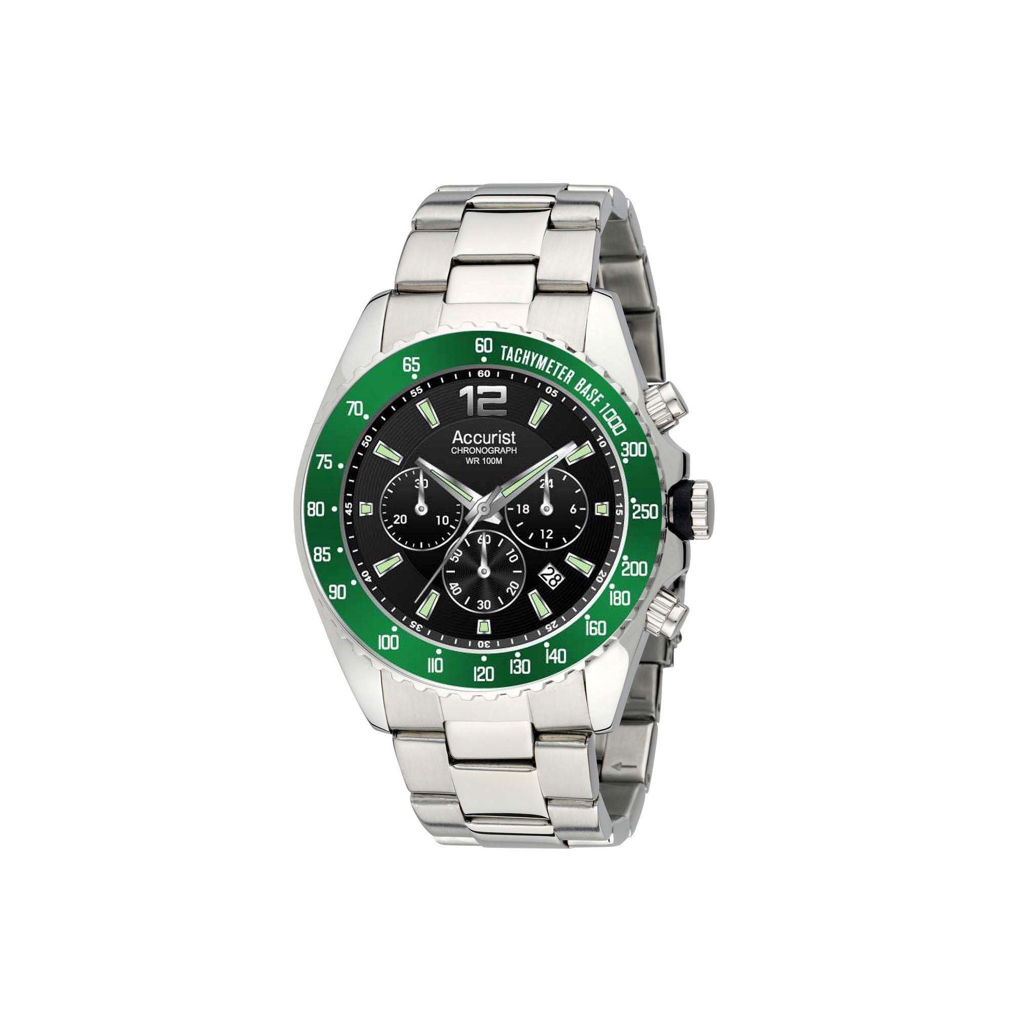myshop accurist gents chronograph bracelet watch mb936bg