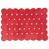 Lorena Canals Galleta Red Children's Rug - 120 cm W x 160 cm D (3 ft 11 in x 5 ft 3 in)