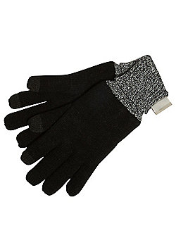 """F&F Touch Screen Gloves with Thinsulateâ""""¢ - Black"""