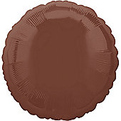 18' Chocolate Brown Round Foil (each)