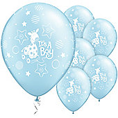 11' Its A Boy Soft Giraffe (25pk)