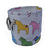 Wicker Valley One Piece Small Round Pony Soft Storage