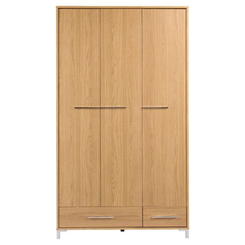 Riva 3 Door Wardrobe, Oak Effect