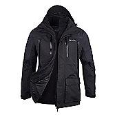 Mountain Warehouse Correspondent Extreme Mens 3 in 1 Waterproof Jacket - Black