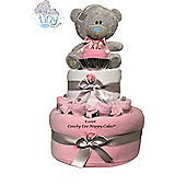 Baby Girl Teddy Bear Nappy Cake Gift