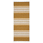 Swedy Ljung Yellow / White Rug - Runner 60 cm x 200 cm (2 ft x 6 ft 7 in)