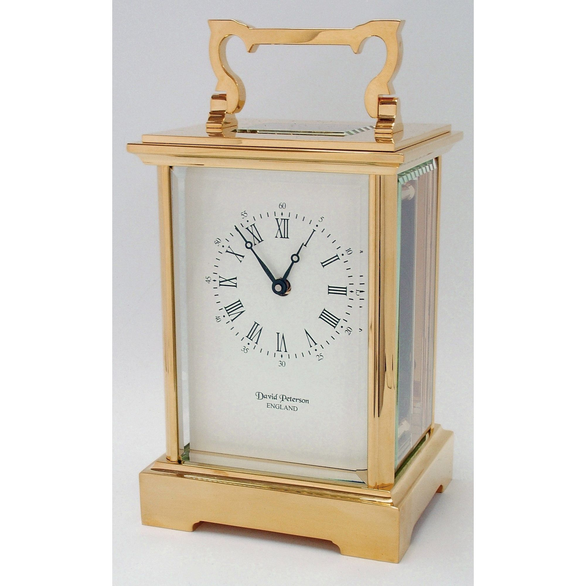 David Peterson Ltd 8 Day Grande Anglais Carriage Clock at Tescos Direct