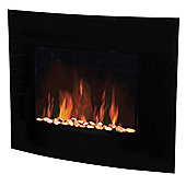 Igenix IG9410 1.8kW Hamilton Flame Effect Wall Mounted Fire - Black