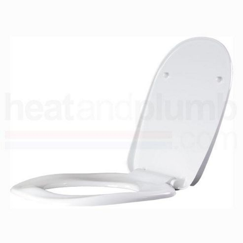 AKW White Ergonomic Toilet Seat including Cover