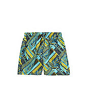 Speedo Geometric Wave Print Watershorts - Green & Multi