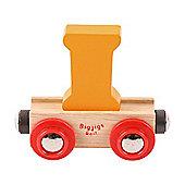 Bigjigs Rail Rail Name Letter I (Orange)