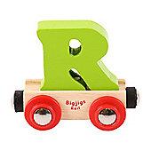 Bigjigs Rail Rail Name Letter R (Green)