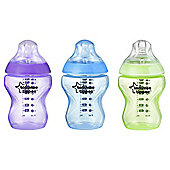 Tommee Tippee Closer To Natureworld Girl Bottle 260Ml - 3 Pack
