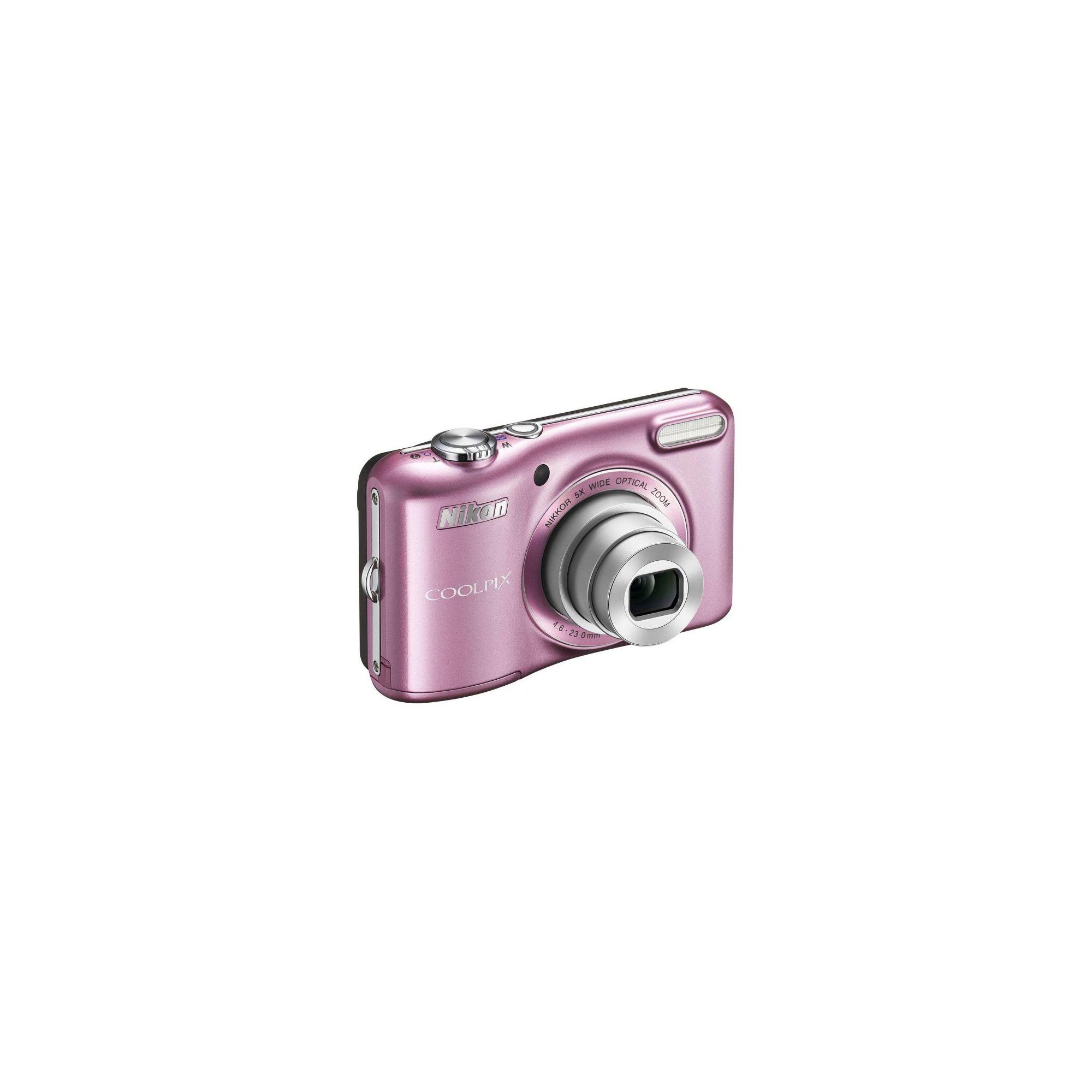 Nikon Coolpix L28 Pink Camera Kit inc 4x AA Batteries, Charger, Case & 4GB SD