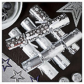 Tom Smith Silver Snowflake Christmas Crackers, 6 pack