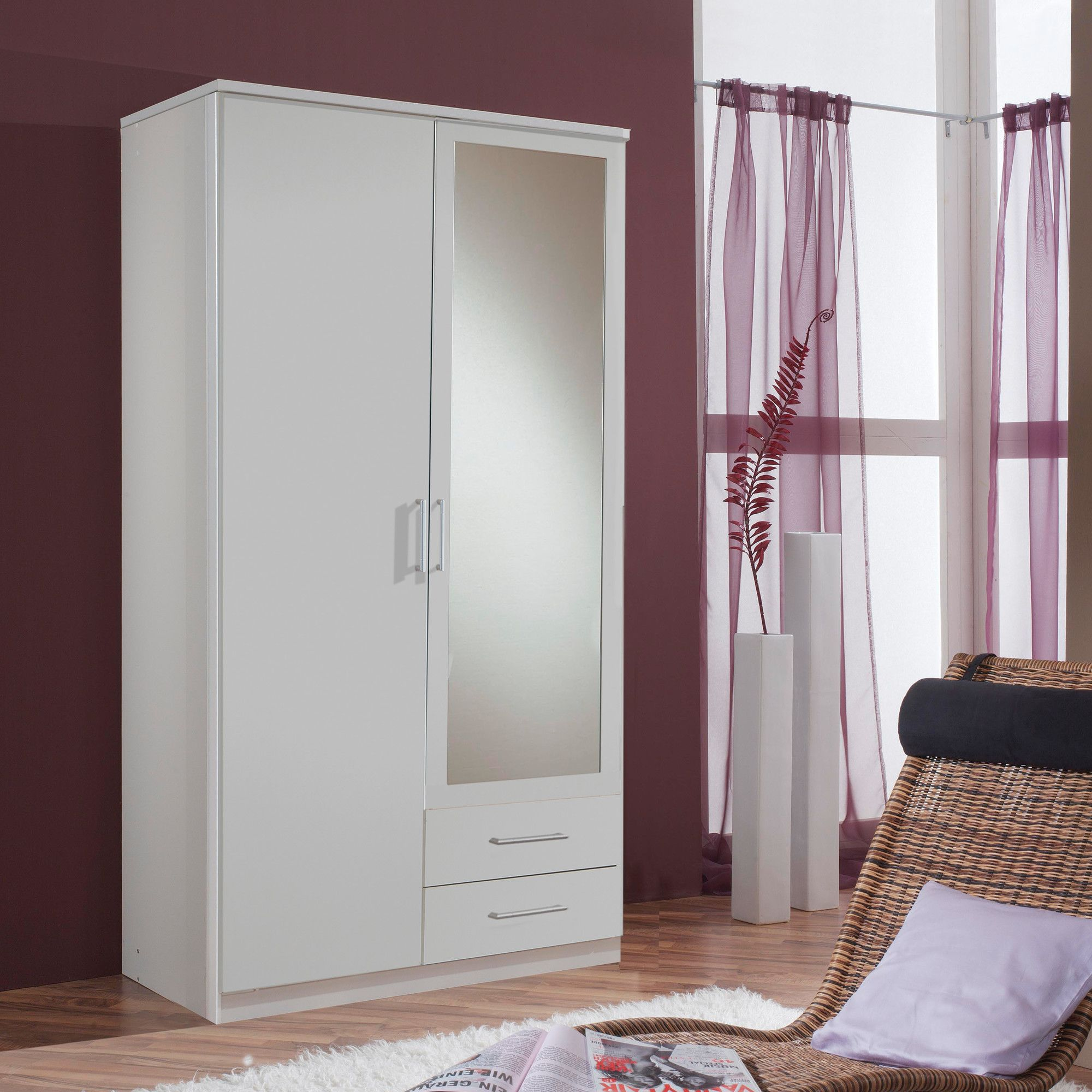 Amos Mann furniture Venice 2 Door 2 Drawer Wardrobe - White at Tesco Direct