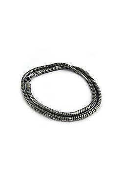 Smooth Grey Snake Chain