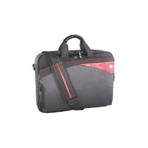 V7 Edge Laptop Frontloader Computer Bag (Black with Red Accents) for V7 16.1 inch Laptop