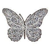 Large Wall Mountable Aged Grey Metal Butterfly Garden Feature Wall Art