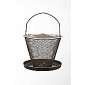 No/No Single Tier Bronze Wild Bird Feeder with Tray