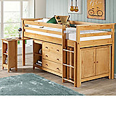 Happy Beds Costwold 3ft Pine Wooden Midi Sleeper Bed Frame