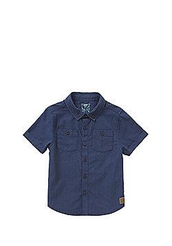F&F Twin Pocket Short Sleeve Shirt - Navy