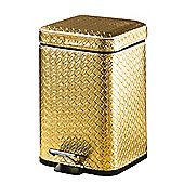 Gedy Marrakech Pedal Bin Soft Close - 25cm H x 16.5cm W x 21.5cm D - Gold