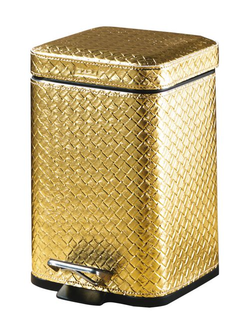 Buy gedy marrakech pedal bin soft close from our bathroom for Gold bathroom bin
